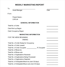 How To Write A Weekly Report Template Weekly Manager Report Template Xtech Me