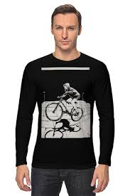 <b>Лонгслив</b> девушка на велосипеде #666281 от monster66 по цене ...