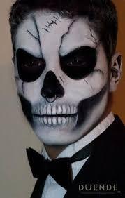 sugar skull makeup men skeleton skull by duende sugar makeup sugar skull makeup skull makeup