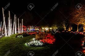 Botanical Gardens Christmas Lights 2018 Vancouver Canada December 30 2018 Luxury Decorated Vandusen
