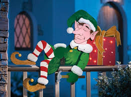 Home Accents Outdoor Christmas Decorations Snoozin' Elf Outdoor Christmas Decoration Idea natal Pinterest 88