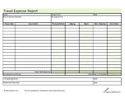 Expense Report Form Template Employee Travel Expense Report Template Travel Expense