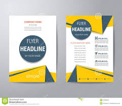 Design Brochure Template Simple Triangle And Circle Brochure Flyer Design Layout