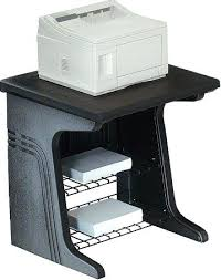 iceberg enterprises printer stand black large surface accommodates most office printers glass