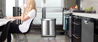 Designer Kitchen Waste Bins Simplehuman Trash Cans And Garbage Bins For Kitchens And