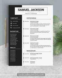 Innovative Resume Templates Delectable Professional Resume Template Design Resume Templates Modern Etsy