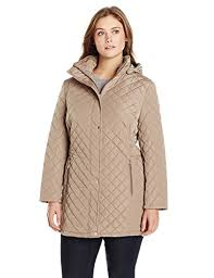 Calvin Klein Women's Classic Quilted Jacket with Side Tabs - Plus Size & Calvin Klein Women's Classic Quilted Jacket with Side Tabs – Plus Size Adamdwight.com