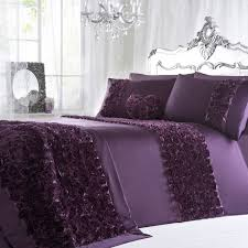 this gorgeous purple antoinette bed linen from julien macdonald is indulgent and luxurious with