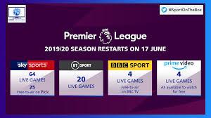 premier league restart live tv