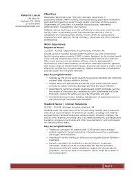 Rn Bsn Resume Template Unique Resume Examples Graduate Nurse