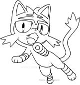 Pokemon Kleurplaten Litten Pokmon Ausmalbilder Malvorlagen