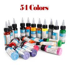 54 бутылки профессиональный чернила татуировки 54 цвет
