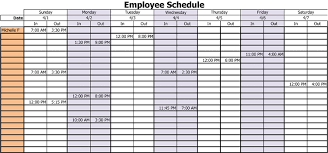 Schedule Document Template 3 Professional Work Schedule Templates For Employees