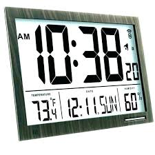 wall clocks with calendar oversized digital wall clock calendar prefeial led large extra display circuit cl