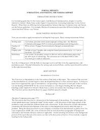 Sample Formal Report Best Photos Of Formal Business Report Example Formal