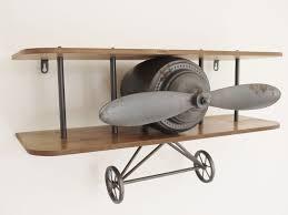 on retro industrial wall art with retro industrial vintage aeroplane wall shelf