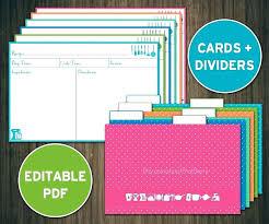 Printable Blank Recipe Cards Free Printable Recipe Cards Free