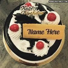 Birthday Cake Name Editing Photo Make Happy Birthday Cake With Your