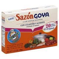 sazon goya low sodium seasoning