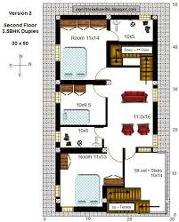 30 50 house plans west facing magnificent east facing duplex house of 30 50