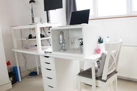 a makeshift standing desk