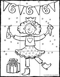 Puzzel Verjaardag Meisje 6 Jaar Kiddicolour