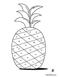 Have Fun Coloring This Pineapple Coloring