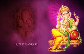 Lord Ganesha purple background new ...