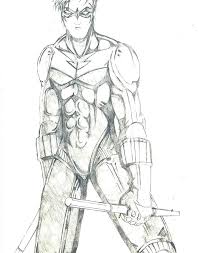 Nightwing Coloring Pages Robin Coloring Pages Robin Coloring Pages