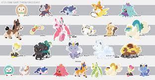 All Alola Pokemon Stickers I've Done So Far!: PokeMoonSun