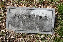 Ada Jane Kelley Nichols (1871-1959) - Find A Grave Memorial