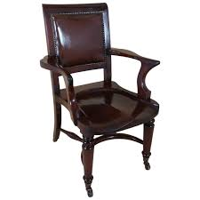 french ebonized gany antique desk chair with a leather seat 3172 breathtaking pictures hd white