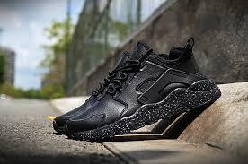 nike air huarache ultra premium uni all black shoes nike black shoes