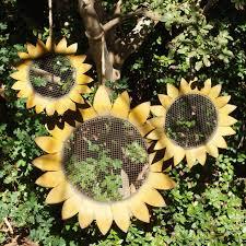 sunflower wall decor metal sunflowers garden wall art