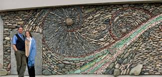 the ancient art of stone couple creates beautiful rock wall pertaining to plan 14 on rock wall art ideas with spiral stone wall within art ideas 6 thepeoplephilly