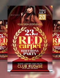 Birthday Invitation Flyer Template Amazing 48 Red Carpet Party Flyer Templates Free Premium Download