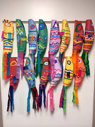 Elementary Art Project, Japanese Koinobori, Culture, Carp Streamers,  Painting