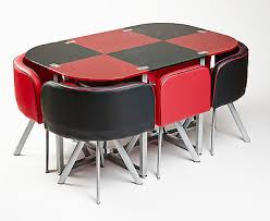 dining table and 6 red leather chairs. modern glass red and black dining table with 6 leather chairs unique contemporary design l
