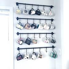 coffee mug rack hanging mugs on the walls kitchen and apartments wall mounted w