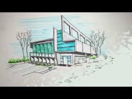 architectural building sketches. Two Point Perspective Freehand Building Drawing - YouTube Architectural Sketches I
