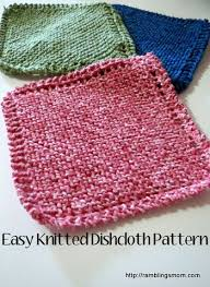 Easy Knit Dishcloth Pattern Unique Knit Dishcloth Pattern Super Easy Great Idea For A Handmade