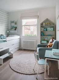 This Bedroom Takes Inspiration From The Scandinavian Style Of Decorating,  And It Features A Modern Soft Gray And Mint Color Scheme And A Cute House  ...