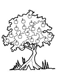 Coloring Pages Apple Tree Best Of Free Printable Download Kids Fruit