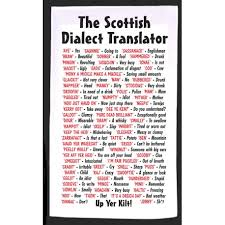 The international phonetic alphabet (ipa) is a standardized system of pronunciation (phonetic) symbols used, with some variations, by many dictionaries. Scottish Dialect Translator Tea Towel