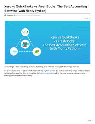 Xero Vs Quickbooks Xero Vs Quickbooks Vs Freshbooks The Best Accounting Software Wit