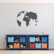 Small Picture Wall Decal World Globe Design Wall Decals Australia Fixate