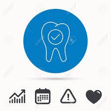 Check Tooth Icon Stomatology Sign Dental Care Symbol Calendar
