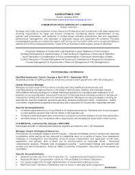 Human Resources Manager Resume Berathen Com