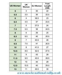 New Balance Size Chart