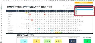 Attendance Tracking Template Interesting Employee Attendance Tracker Template Track Hours Free Templates
